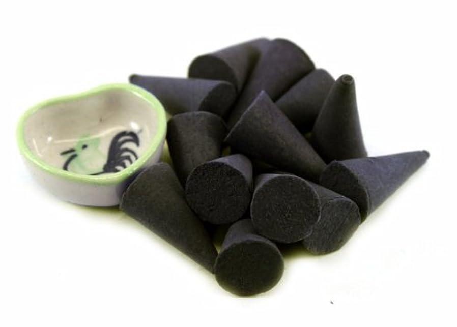 手足群衆恐れAgarwood Incense Cones with Burnerホルダー100ピースパックThaiEnjoy製品
