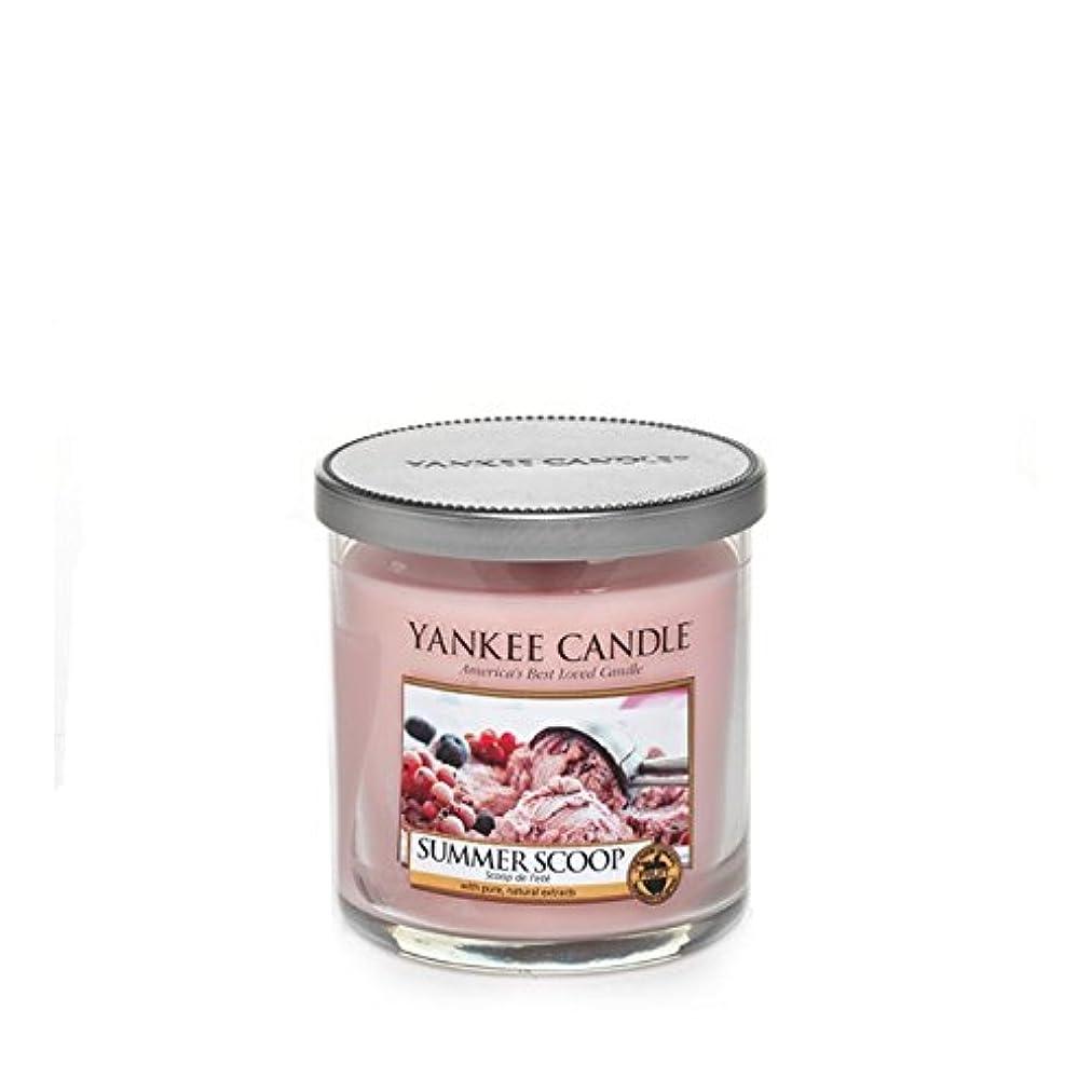 海火星食堂Yankee Candles Small Pillar Candle - Summer Scoop (Pack of 2) - ヤンキーキャンドルの小さな柱キャンドル - 夏のスクープ (x2) [並行輸入品]