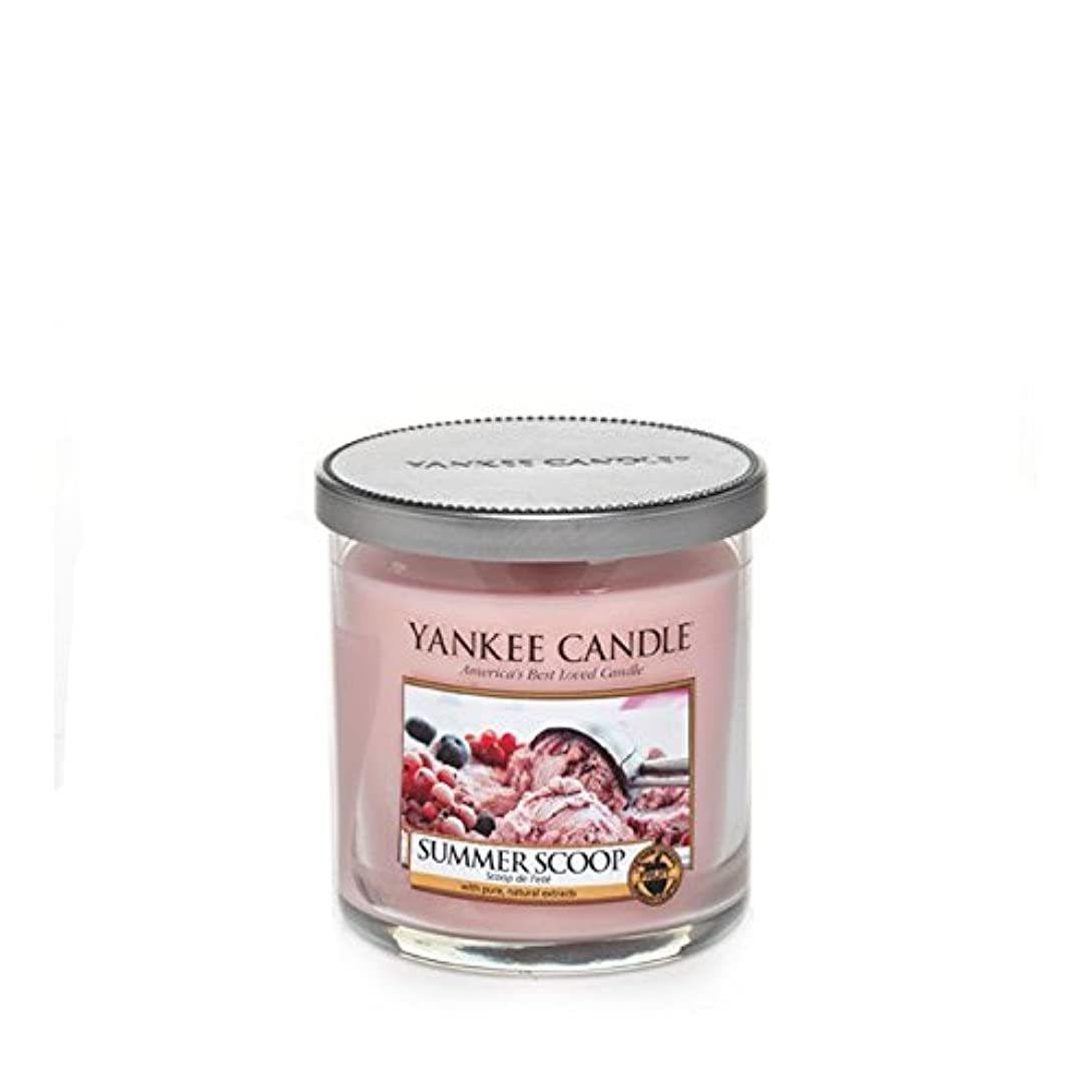 平均フィドルドリンクヤンキーキャンドルの小さな柱キャンドル - 夏のスクープ - Yankee Candles Small Pillar Candle - Summer Scoop (Yankee Candles) [並行輸入品]