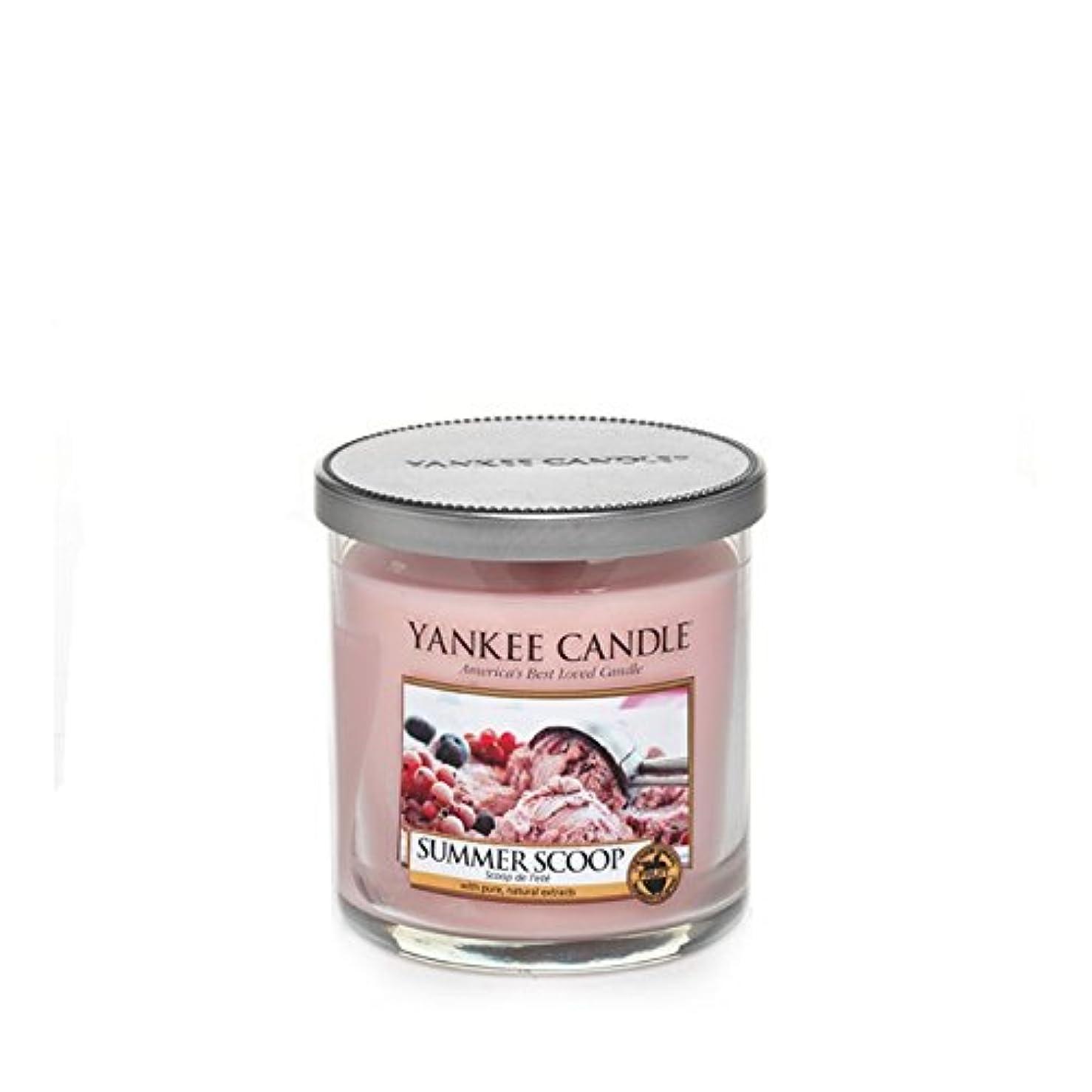 バウンスかどうか黄ばむYankee Candles Small Pillar Candle - Summer Scoop (Pack of 6) - ヤンキーキャンドルの小さな柱キャンドル - 夏のスクープ (x6) [並行輸入品]