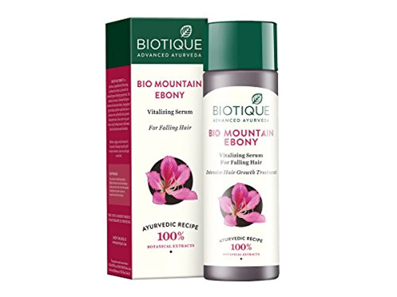 自治行列豊富Biotique Mountain Ebony Fresh Growth Stimulating Serum for Fine and Thinning Hair