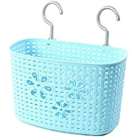 25 CM多目的プラスチック貯蔵バスケット家庭用オーガナイザー、青い花