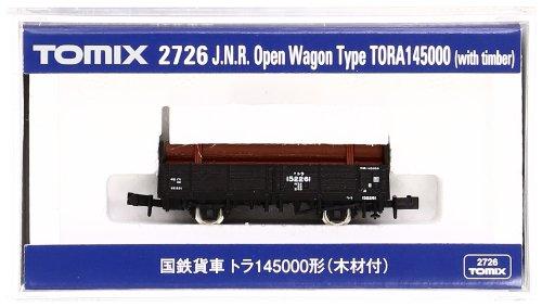 TOMIX Nゲージ 2726 国鉄貨車 トラ145000形 (木材付)