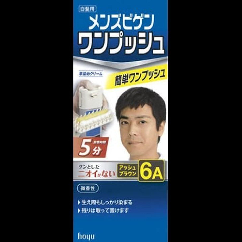 メンズビゲン ワンプッシュ 6A アッシュブラウン ×2セット