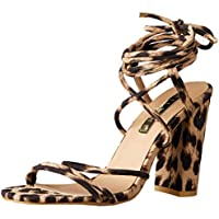 BILLINI Women's Orelia Strappy Block Heel, Light Leopard, 7 AU