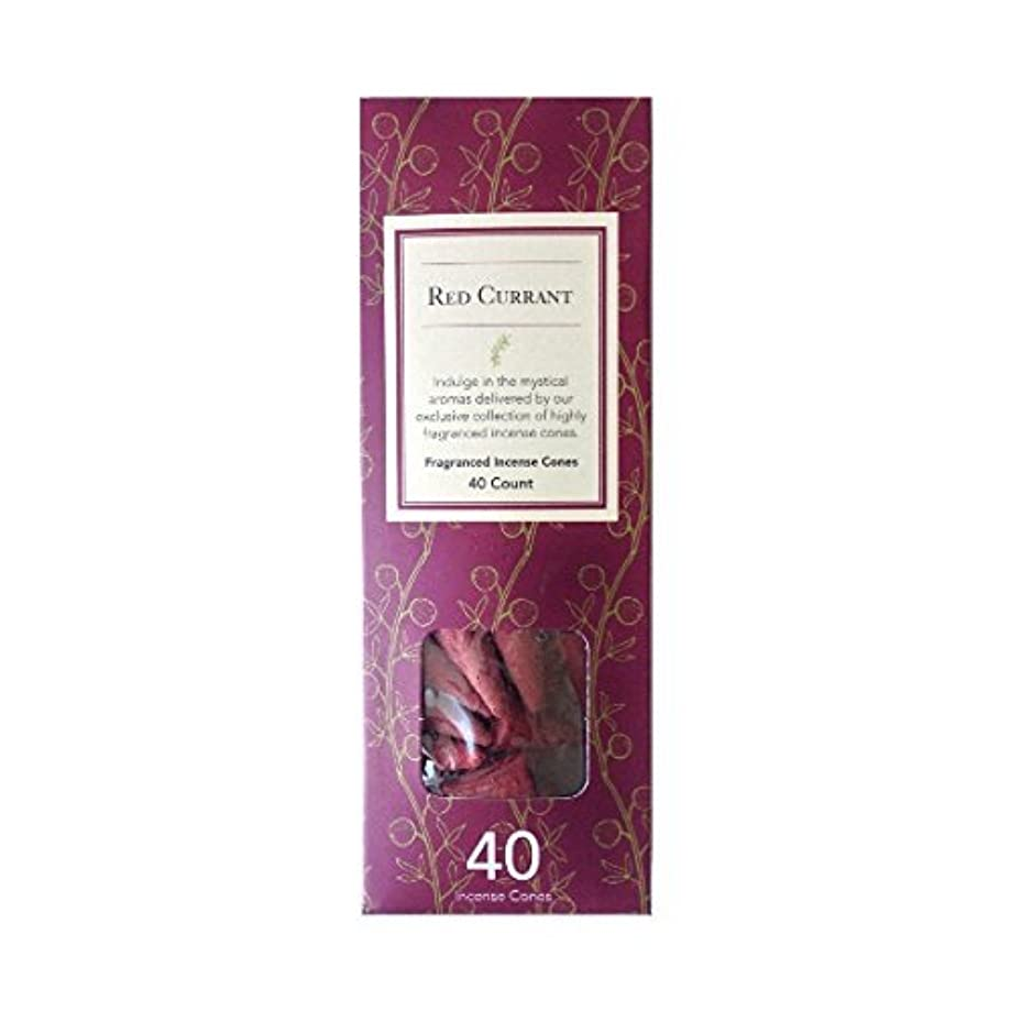 落ち着くかろうじてアコーFlora Classique Red Currant Fragranced Incense Cones、40-ct。パック