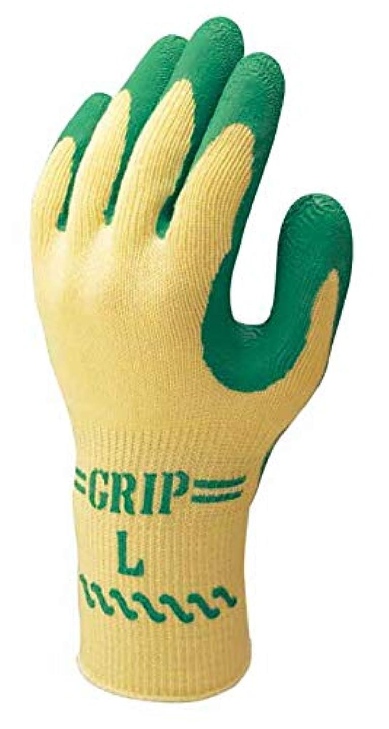 かみそり取り囲む友だち[ショーワ] 作業手袋 5双組 スベリ止め グリップ (ソフトタイプ) 特殊背抜き製法
