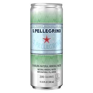 サンペレグリノ(S.PELLEGRINO) 炭酸入りナチュラルミネラルウォーター 缶 330ml[直輸入品]×24本