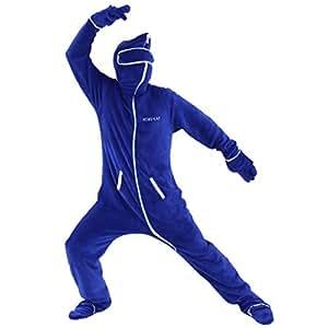 BIBILAB (ビビラボ) 冬のダメ着 人型寝袋 フリース EH-BLUE-L ニュータイプ着る毛布