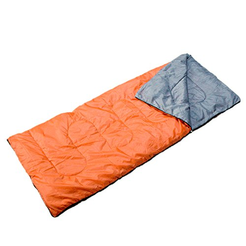 Rubly 高品質 封筒型 寝袋 (最低使用温度0度)【春~秋のキャンプ、車中泊、室内使用等に最適】 (オレンジ)