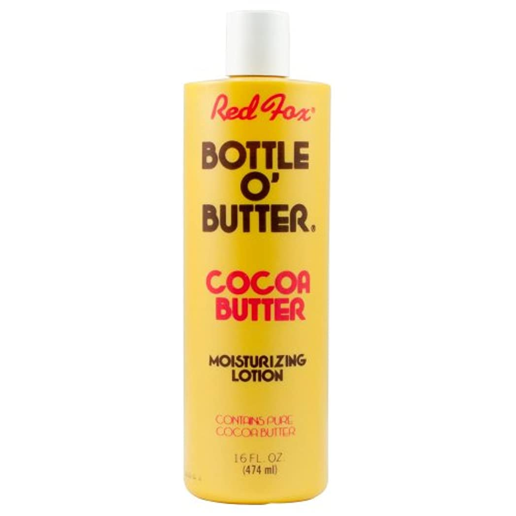 避けられないにんじん色Red Fox Bottle O'Butter Cocoa Butter Lotion 475 ml (並行輸入品)