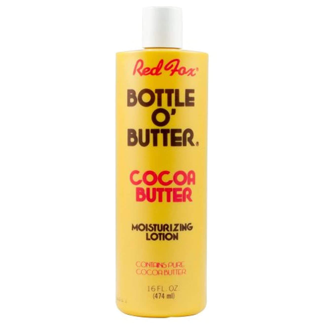 不条理自殺変形Red Fox Bottle O'Butter Cocoa Butter Lotion 475 ml (並行輸入品)