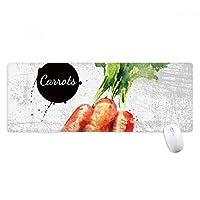 ニンジンは野菜のおいしい健康的な水彩画 ノンスリップゴムパッドのゲームマウスパッドプレゼント