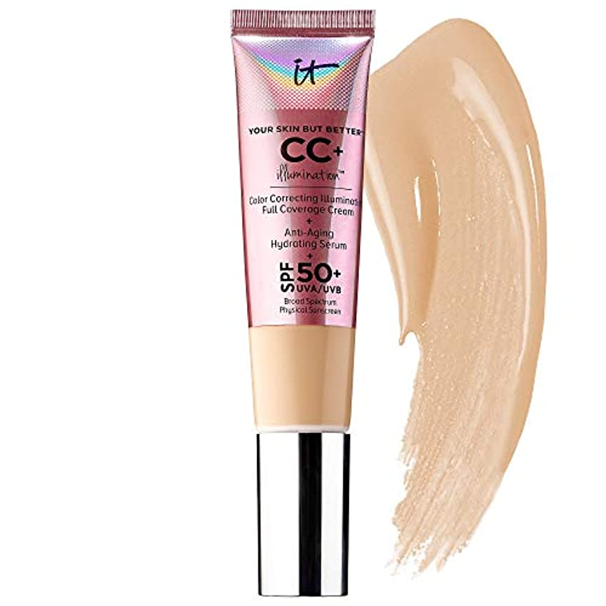 に向かってフレット一目IT COSMETICS CC+ Cream Illumination, Fair 1.08 oz (32 ml) SPF50