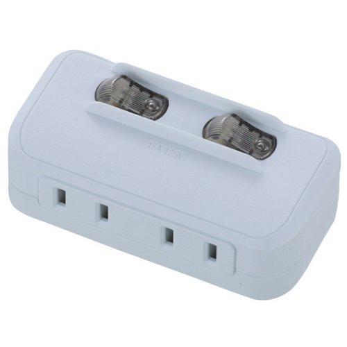 LED個別スイッチ付き 節電タップ 2個口 [HS-A175...