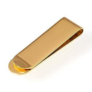 ReiZ サージカル・ステンレス製マネークリップ【無地・プレーン】 #ゴールド