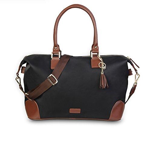 サイベナ Saveina トートバッグ マザーズバッグ ハンドバッグ 斜めかけバッグ ショルダーバッグ ビジネスバッグ 鞄 レディース 女性 (ブラック)