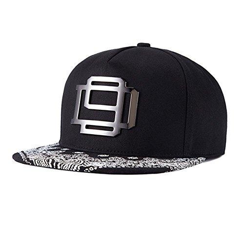 No brand casual flat brim baseball cap story door system cap unisex BB cap NO.29