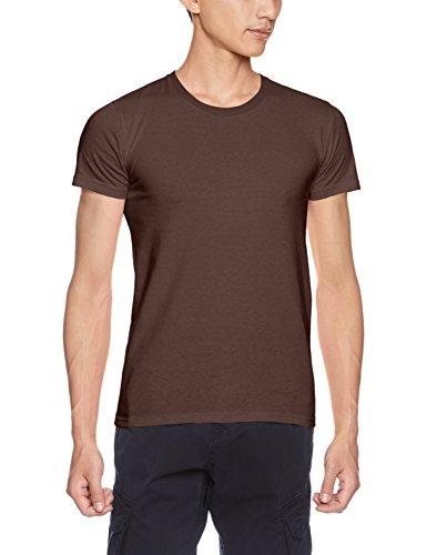 [ダルク] 半袖 5.0オンス スタンダード クルーネック Tシャツ DM030 チョコレート WS (日本サイズレディースS相当)