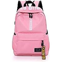 School Backpack Bag School Women Backpack School Bags for Teenage Girls Black Female Schoolbag Teens Men Casual Style Student Book Bag (Color : Pink, Size : -)