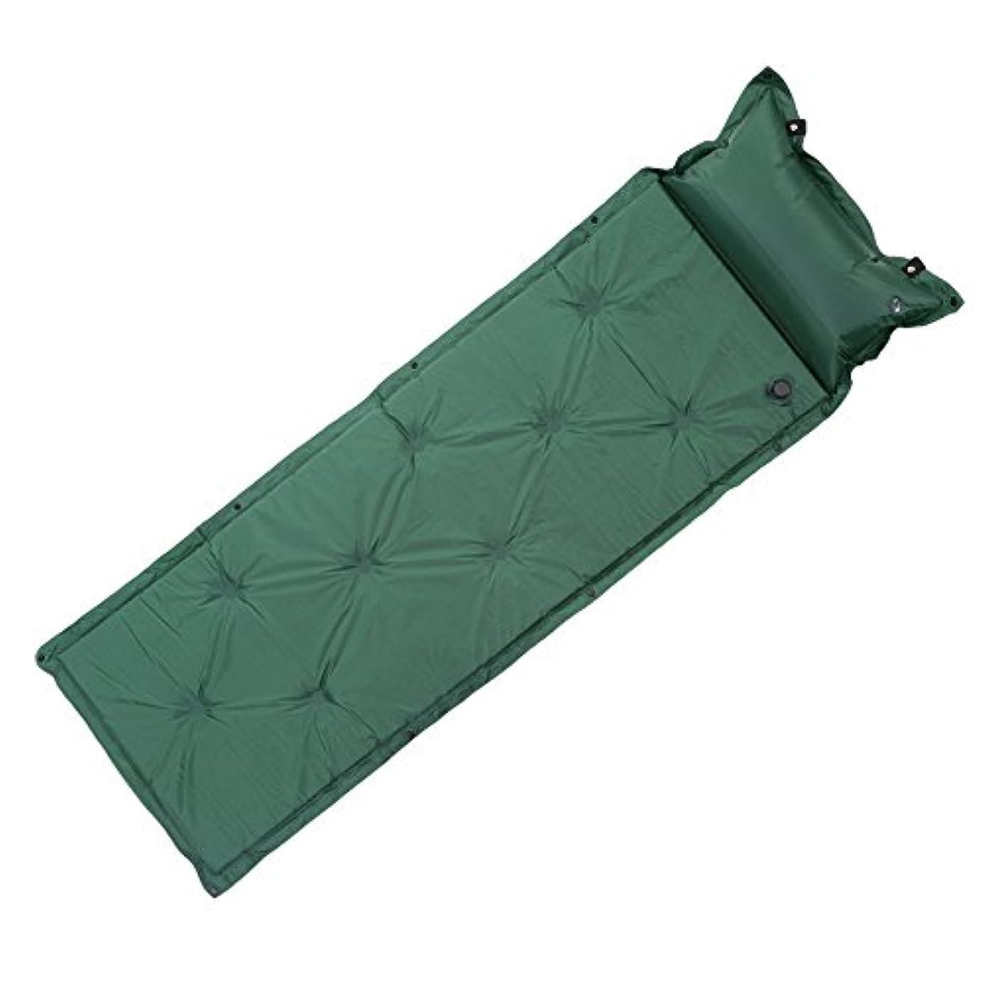 ボーカル西上がる屋外キャンプマット厚い自動インフレータブルマットレス自己膨張テントマットビーチピクニックエアマットレスと枕