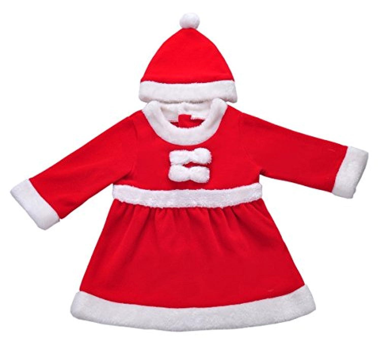 EIMEI【サンタスーツ】ベビー サンタ コスプレ クリスマス 子供 衣装 (100CM 女の子)