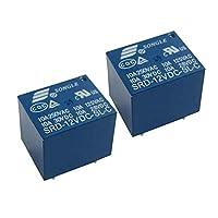 D DOLITY 20個 パワーリレー SPDT接点 5ピン PCBリレー DIY PCB SRD-12VDC-SL-C 高品質 互換性