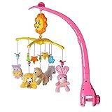 モービル ミュージックボックス ベッドメリー 簡単に取付け 赤ちゃん 知育玩具 音楽 睡眠サポート ぬいぐるみ