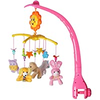 ベッドメリー モビール ミュージックボックス 知育玩具 手巻き式 簡単に取付け 赤ちゃん ぬいぐるみ