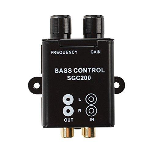 SODIAL カーホームアンプ RCAゲインレベルボリュームノブブースター オーディオステレオベースコントロール