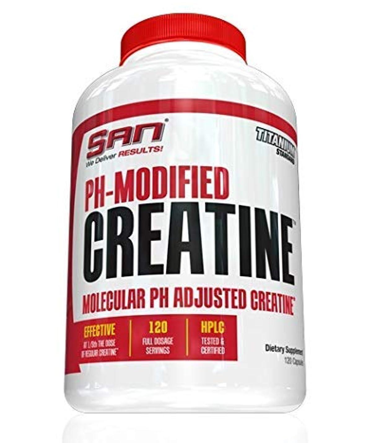 思いやりのある流体特権SAN PH-Modified Creatine 750 mg 120 caps - SAN PH-モディファイド クレアチン 750 mg 120 カプセル