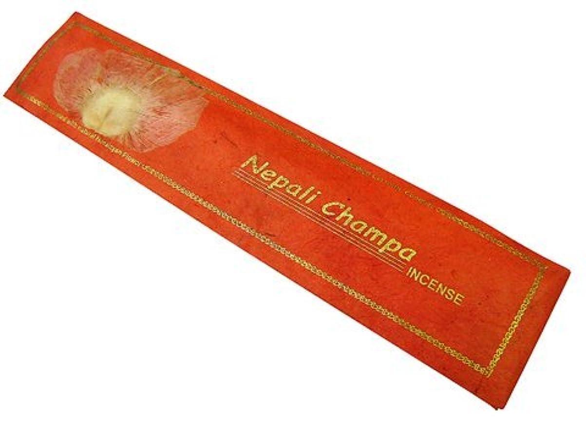 質素な生産的アーカイブNEPAL INCENSE ネパールのロクタ紙にヒマラヤの押し花のお香【Nepali Champaネパリチャンパ】 スティック