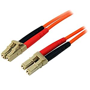 StarTech.com 光ファイバーケーブル 15m LSZH対応パッチコード OM2仕様準拠 マルチモード コア径50ミクロン/芯径125ミクロン 2芯LC-LCコネクタ 50FIBLCLC15