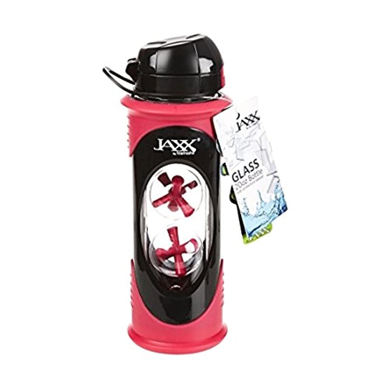 シャワー安全な回路Fit & Fresh Jaxx Glass Bottle, 20 oz, Pink by Fit & Fresh