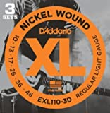 D'Addario ダダリオ EXL-110-3D 3セットパック Regular Light(10-46) EXL110-3D エレキギター弦【国内正規品】