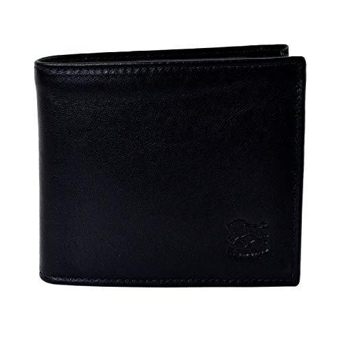 [イルビゾンテ] IL BISONTE 財布 二つ折り C0487 本革 レザー ウォレット (ブラック(153))