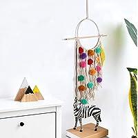 FENXIMEI カラフルな豪華なボール タッセル タペストリー装飾ペンダント装飾タペストリー90 * 20壁掛け (Color : Beige, Size : 90*20)