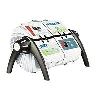 Visifix Duoロータリービジネス/アドレスファイルHolds 80041/ 8x 27/ 8カード、ブラック, Sold as 1Each