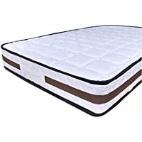 DEWEL ポケットコイル マットレス 高密度465個 シングル 高反発 寝具 ボリュームキルティング 体圧分散 快眠 通気性 197 * 97 * 17cm ホワイト