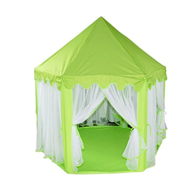 VORCOOL Hexagonプリンセス城キュートインドアKids Play TentアウトドアGirls Playhouse (グリーン)