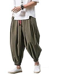 夏服 メンズ サルエルパンツ ガウチョパンツ 無地 ポケット付き 大きいサイズ カジュアル ワイドパンツ ハーフパンツゆったり ロングパンツ 夏春秋