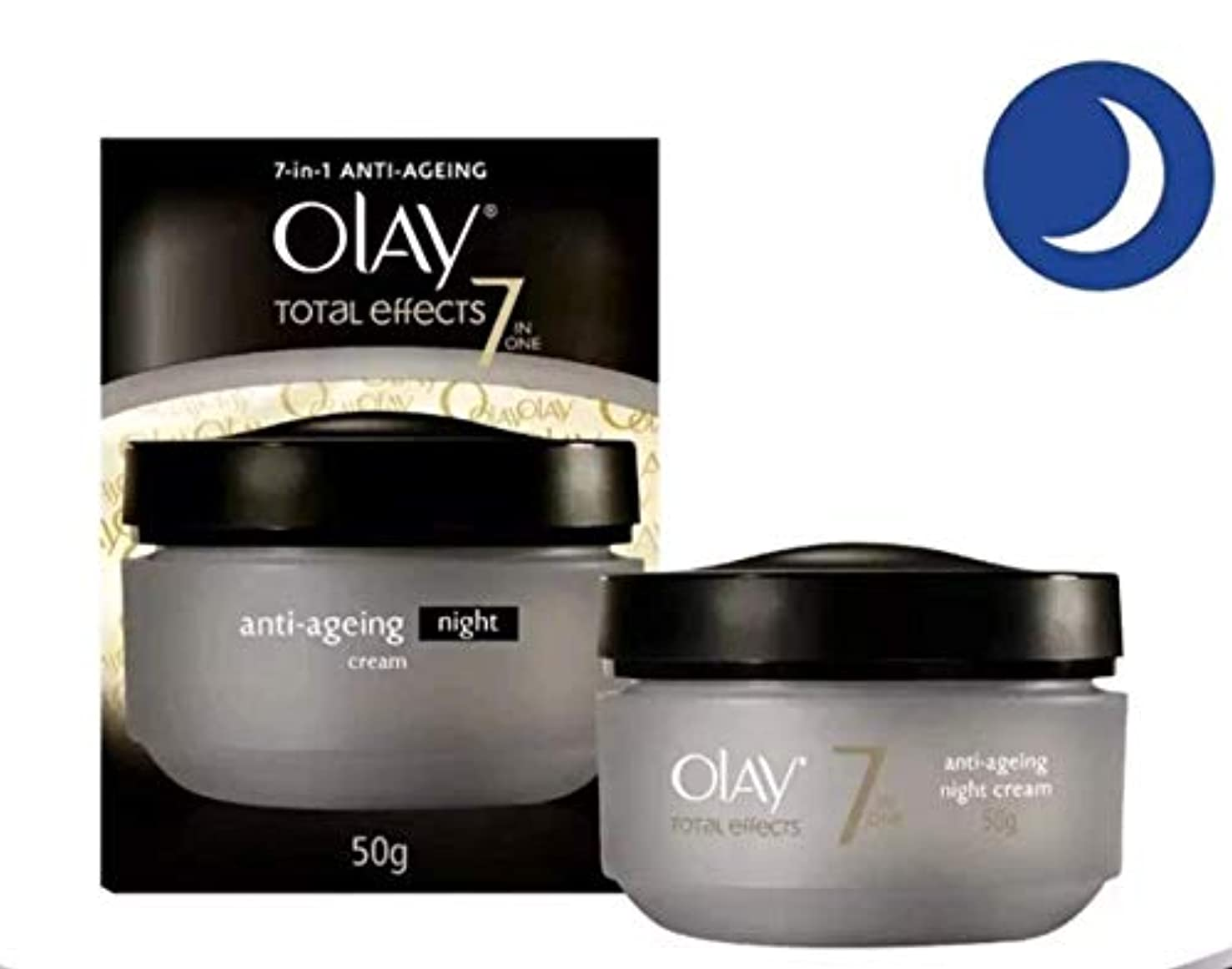 OLAY TOTAL EFFECTS 7 IN ONE ANTI-AGEING 【NIGHT CREAM】 50g [並行輸入品]