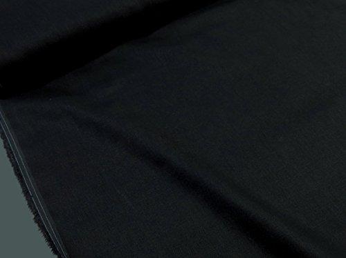 ワイド巾リネン無地ナチュラルカラー ブラック黒  |W巾|広...