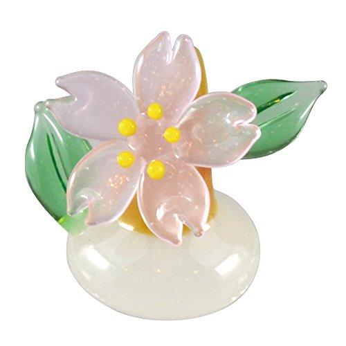 かわいい 手作り ガラス細工 桜 スタンド CYK511