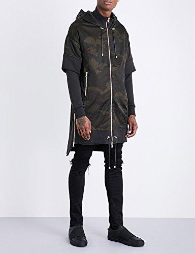 Balmain(バルマン) アウター コート camouflage-print satin and cotton-jersey CAMOUFLAGE 1zd [並行輸入品]