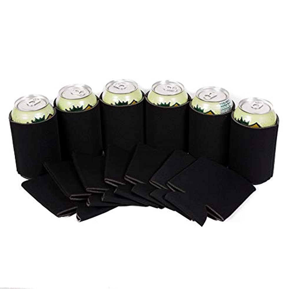 エッセイベーシックセーブ(25, Black) - QualityPerfection 25 Black Party Drink Blank Beer Can Coolers(4,6,12,25,50,100 or 200 Bulk Pack) ,Soda Coolies Sleeves Soft, Insulated Coolers 30 Colours Perfect For DIY Projects,Holidays,Events