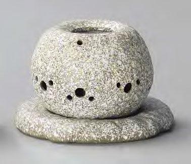 YI--Y-1628 常滑焼 電気式茶香炉 径14×高さ11.5cm
