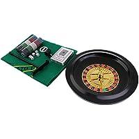 baoblazeシミュレーション5 in 1 RouletteメタルボックスPoker Chipsおもちゃパーティーカジノボードゲーム用アクセサリー
