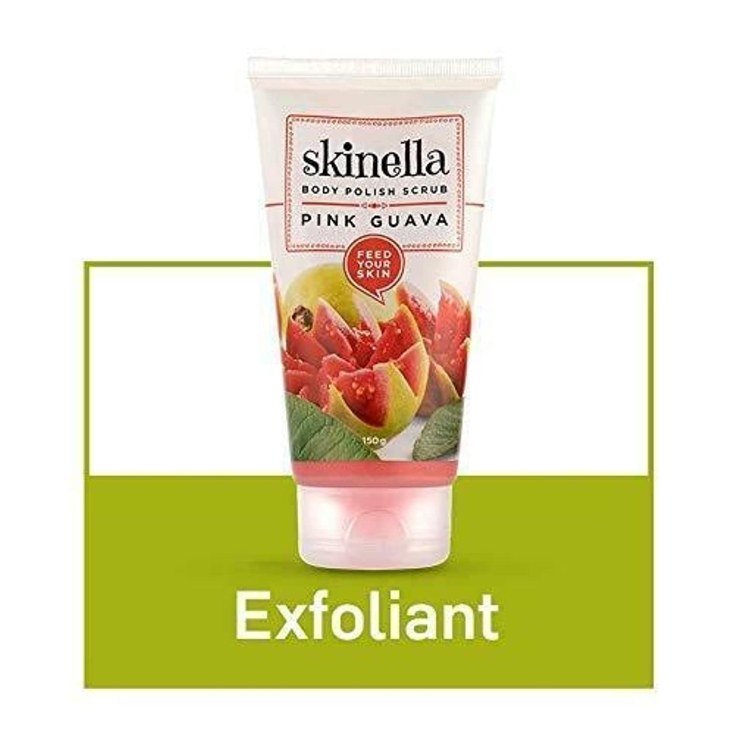 プロフィールソース時代遅れSkinella Body Polish Scrub Pink Guava 150g Softens skin & Instantly exfoliates