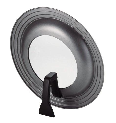 パール金属 ガラス窓付 立つ フライパン 鍋 蓋 24~28cm 用 シリコン 加工 スタンディング パンカバー オイルマスター H-7898